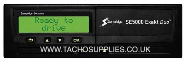 STONERIDGE SE 5000 EXAKT DUO TACHOGRAPH HEAD