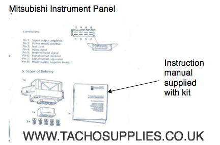 mitsubishi l200 tachograph fitting instructions rh vdotachograph co uk VDO Volt Gauge Wiring VDO Electronic Speedometer Wiring