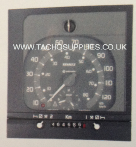 RENAULT PREMIUM 1318 VDO ANALOGUE TACHOGRAPH HEAD SQUARE BLACK BEZEL