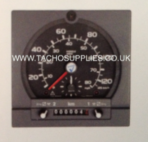 IVECO DAILY 1318 VDO ANALOGUE TACHOGRAPH HEAD SQUARE BLACK BEZEL 140KPH/90MPH