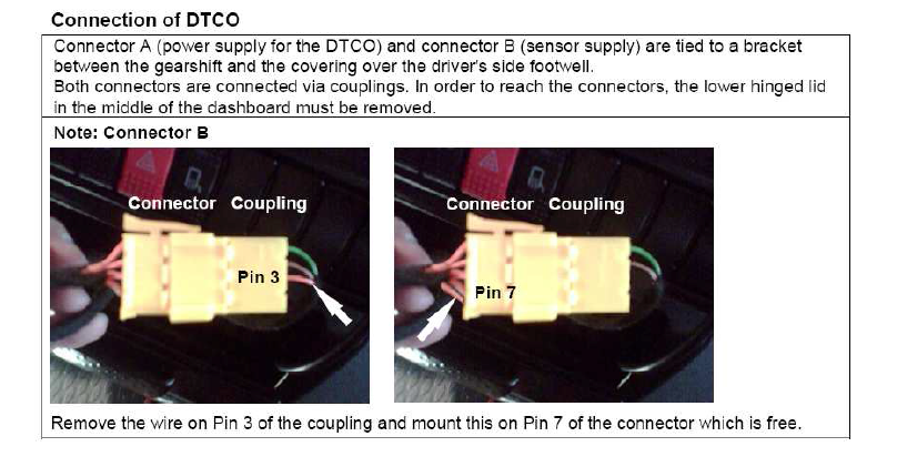 Veco Daily Tachograph Fitting Instructions  Manual  2005 On