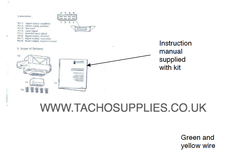 isuzu nqr tachograph fitting instructions manual 2004 on rh vdotachograph co uk VDO Tach Wiring VDO Tach Wiring